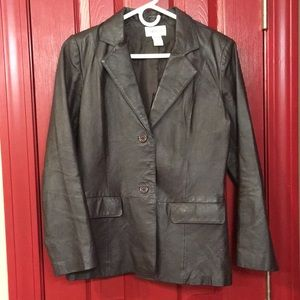 Chadwick's size 8, brown leather blazer